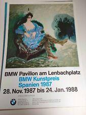 Plakat Ubeda Romero BMW Pavillon Kunstpreis 1987 München A1 Original TOP!