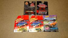 2 racing champions & 3 Johnny Lightning cars. GTO, Super Bee, Torino, Judge.