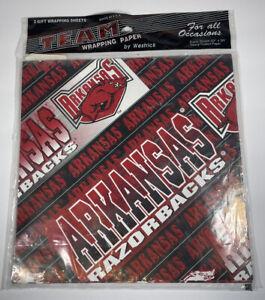Arkansas Razorback Team College Logo Wrapping Paper Wrap