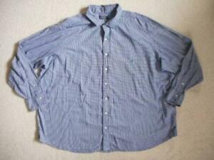 Mens Shirt-POLO RALPH LAUREN-white/green/purple checked 100% cotton ls-4XB