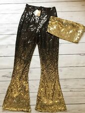 Candypants Small Sequin Trouser Co-ord Set Party Festival Ibiza Boob Tube