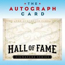 The Autograph Card Blank Signature Card Hall of Fame signed sign auto