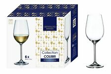 Crystalite Bohemia Colibri White Wine Glass Set of 6 350ml Boxed Glasses