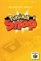 Pokemon Snap - Authentic Nintendo 64 (N64) Manual