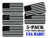 5pack Black Ops American Flags Hard Hat Decals Helmet Stickers USA Tactical Gear