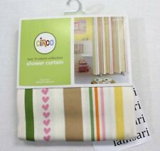 """Circo Love 'n Nature Collection Fabric Cotton Striped Shower Curtain 72"""" x 72"""""""