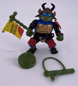 Vintage 1990 Ninja Turtles Figure TMNT Sewer Samurai Leonardo Near Complete Toy