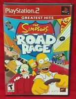 The Simpsons Road Rage PS2 Playstation 2 COMPLETE Game 1 Owner Near Mint Disc