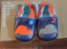 New Next soft leather shoes Blue size 0 1-3 months