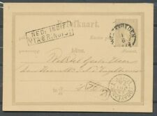 N.I., BRIEFK.12½ CT. G.3 WELTEVREDEN-'S GRAVENHAGE 1/6 1878, AS.13 JUL 78  Ab231
