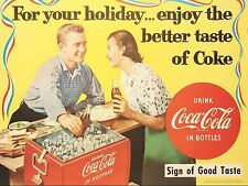 Coca Cola party ad Rectangle High Quality Metal Magnet 3 x 4 inches 9318