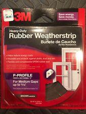 3M Heavy Duty Rubber Weatherstrip P-Profile Medium Gap (up To 3/16�) Brown