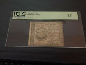 Continental Currency Sept. 26, 1778 $50 VERY FINE 25