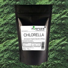 Nutrics® 100% PUR BIO CHLORELLA 550mg x 90 Végétalien Gélules Capsules Detox
