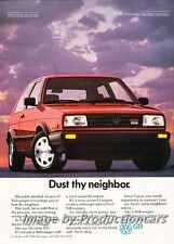 1989 VW Volkswagen GTI Dust Thy Neighbor Advertisement Print Art Car Ad J722