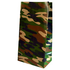 Pack of 12 - Camouflage Print Paper Party Bags