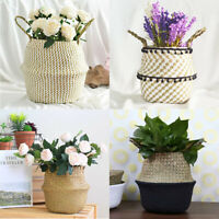 Seagrass Natural Woven Basket Plant Storage Basket Belly Baskets Sea Grass Bags