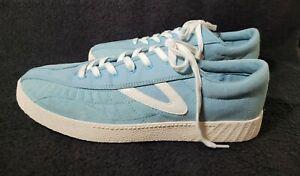 TRETORN - Anore 3000 Shoes Mens Size 11.5 Light Blue Suede Canvas