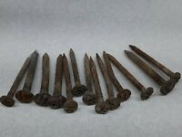 Lot of 13 Vintage Railroad Spikes RR Train Track Nail Used Numbers