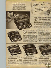 1947 PAPER AD Typewriter Royal Remington Corona Underwood Deluxe Champion 5