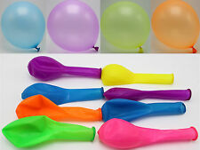 "50pcs 10"" Mixed Neon Color Latex Balloons Celebration Party Wedding Birthday"