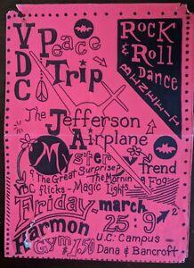 Original 1966 Jefferson Airplane concert poster