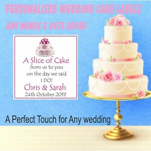 39 Personalised Wedding Cake Stickers,Labels Box SEALS, Table Favours For Guests