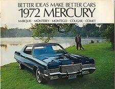 1972 Mercury FL Brochure Comet GT/Montego/Cougar XR-7