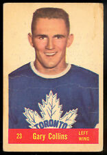 1957 58 PARKHURST HOCKEY #23 GARY COLLINS RC VG-EX TORONTO MAPLE LEAFS card