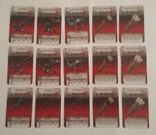 RANGED WEAPON CARDS - Zombicide Green Horde - COMBINE SHIPPING -15 items