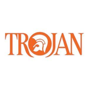 Trojan Records Sticker Orange Vinyl Scooter Decal 145mm Scoot Retro