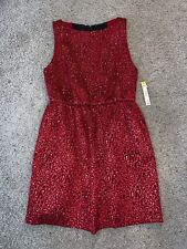 NWT New Women's Alice And Olivia Red Cheetah Print Cocktail Dress Size 10