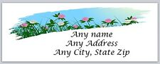 30 Personalized Return Address Labels Spring Flowers Buy 3 Get 1 free(c 606)