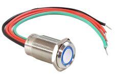 19mm Smart Touch Button Blue Halo Angel Eye LED Piezo Sensor Dimmer Light Switch
