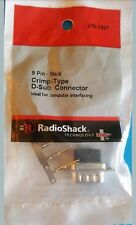 RadioShack 9 Pin Male Crimp Type D Sub Connector 2761427 *FREE SHIPPING*