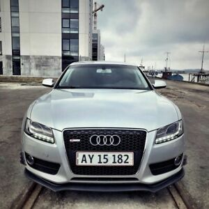 ABS Black Glossy Front Bumper Lip Chin Spoiler For AUDI A5 S5 2007-2011