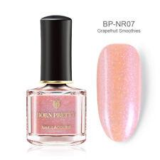 6ml BORN PRETTY Silver Pink Holographic Nail Polish  Laser Varnish Tips