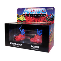 Masters of The Universe Figures Set He-Man Wind Raider Skeletor & Roton MUSCLE