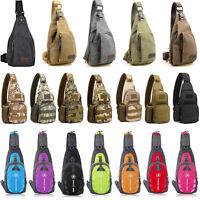 Men Canvas Bag Pack Travel Hiking Cross Body Messenger Shoulder Sling Chest Bags