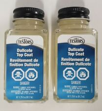 Testors 1160 - Two (2) Dullcote Lacquer, Clear Flat Overcoat, Decal Sealer