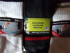lot de 10 a 40 paires de chaussettes tennis sport a rayure pour homme