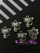 PJ285/ 10pc Tibetan Silver Charms Cute little cat Accessories Wholesale