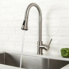 Pull Out Kitchen Faucet Single Handle Pull-Down Sink Faucet Stainless Steel