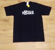 """""""questo è Menace""""/uomini morti/Nero T-shirt/lieve decolorazione/M - 872"""