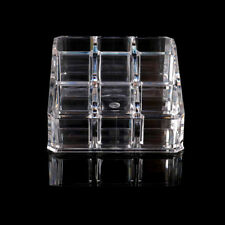 Clear Acrylic 9 Lipstick Holder Display Cosmetic Organizer Makeup Case StorageSP