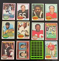 Lot of 12 1976 Topps Football Cards w/ Fran Tarkenton LL - Nice Condition
