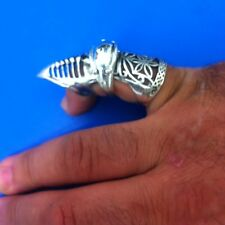 USA Seller, New Hot Topic Overrun, Gothic Punker Rock Knuckle Armor Finger Ring