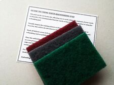GREAT VALUE 3 X VERY LARGE REFINISHING PADS WATCH SCRATCH REPAIR / REMOVAL TUDOR