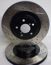 90 91 Honda Civic DX LX Drilled Slotted Brake Rotors F