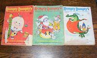 3 Humpty Dumpty's Magazines For Little Children Dec 1968 Jan Oct 1969 Jennie Lee